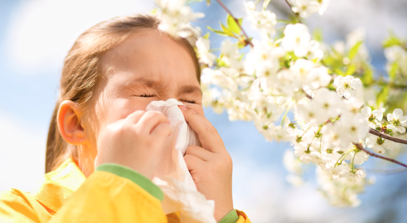 Girl with allergy