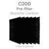Breathe Carbon pre-filter for C200
